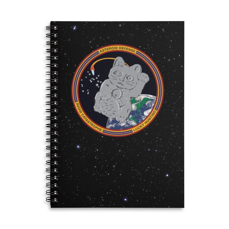 Stay Safe on Asteroid Day Accessories Lined Spiral Notebook by Peregrinus Creative
