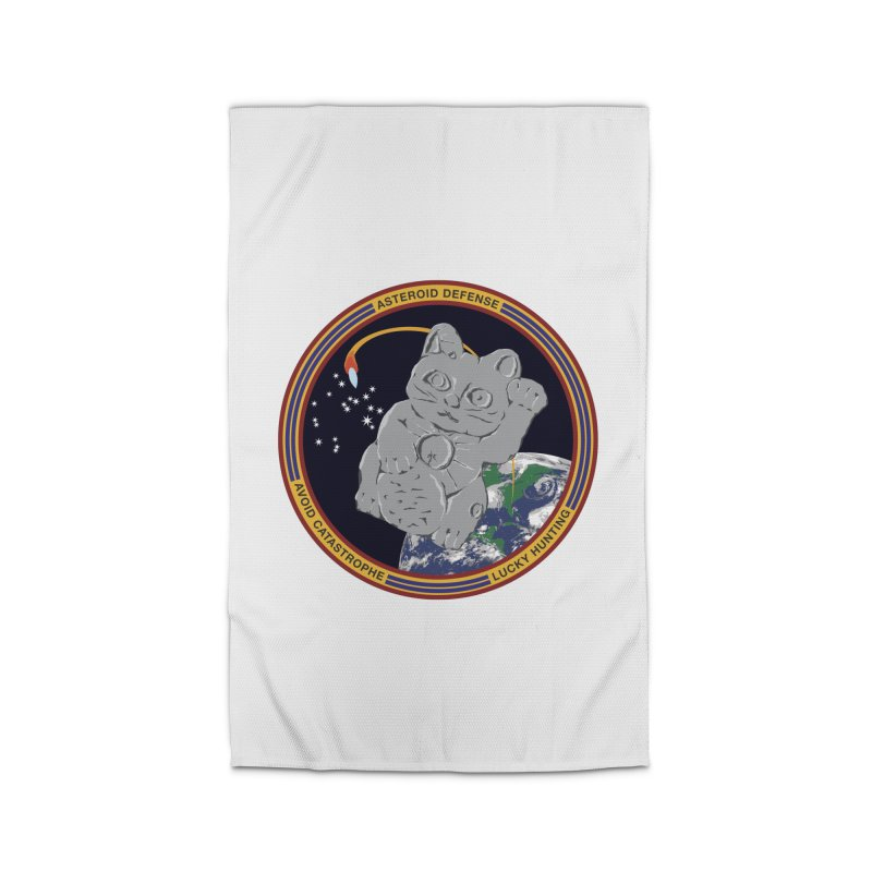 Stay Safe on Asteroid Day Home Rug by Peregrinus Creative