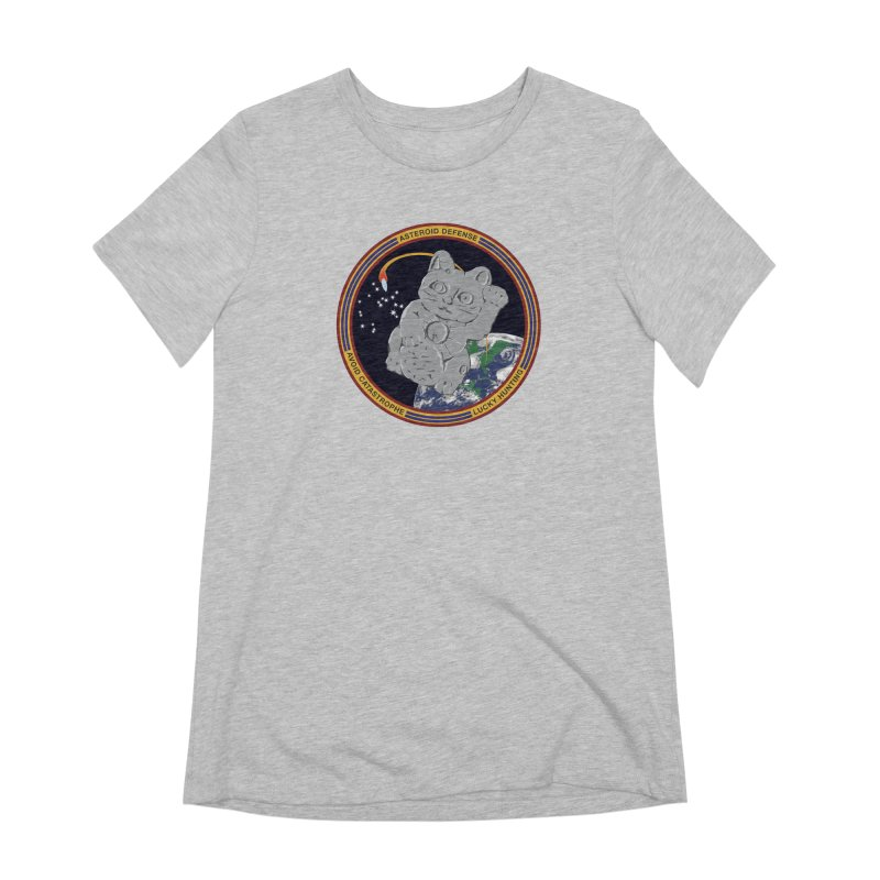 Stay Safe on Asteroid Day Women's Extra Soft T-Shirt by Peregrinus Creative