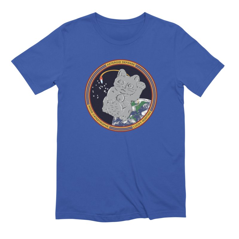 Stay Safe on Asteroid Day Men's Extra Soft T-Shirt by Peregrinus Creative