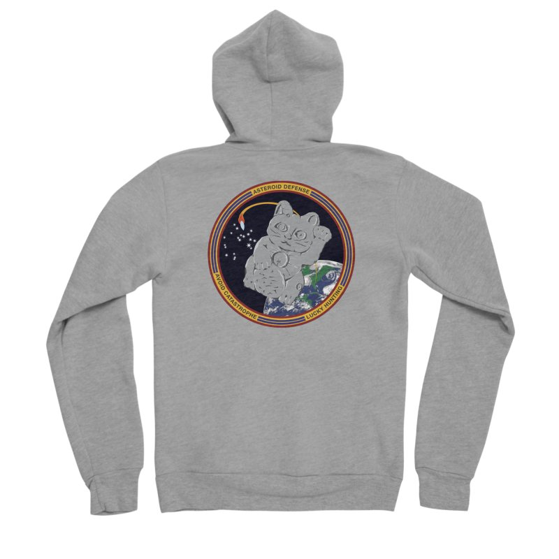 Stay Safe on Asteroid Day Men's Sponge Fleece Zip-Up Hoody by Peregrinus Creative