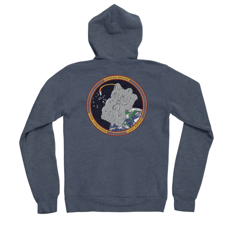Stay Safe on Asteroid Day Women's Sponge Fleece Zip-Up Hoody by Peregrinus Creative
