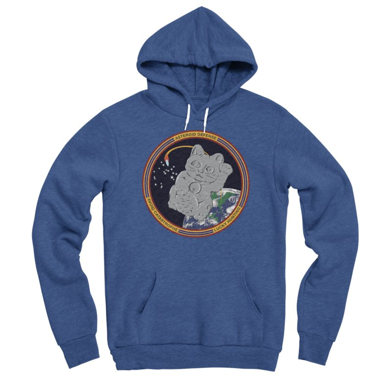 Stay Safe on Asteroid Day Men's Sponge Fleece Pullover Hoody by Peregrinus Creative