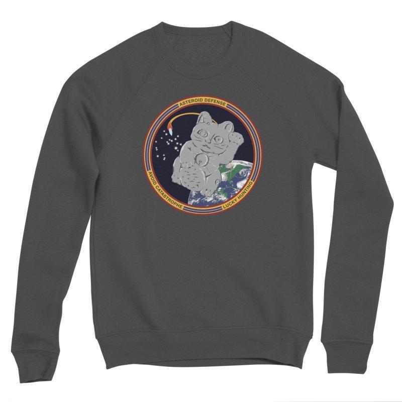 Stay Safe on Asteroid Day Men's Sponge Fleece Sweatshirt by Peregrinus Creative