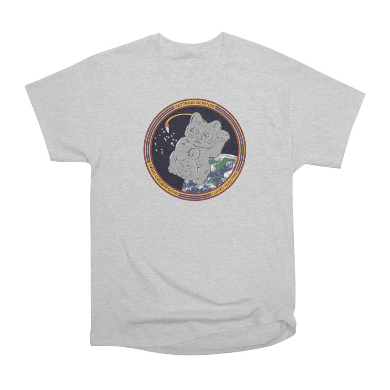 Stay Safe on Asteroid Day Men's Heavyweight T-Shirt by Peregrinus Creative