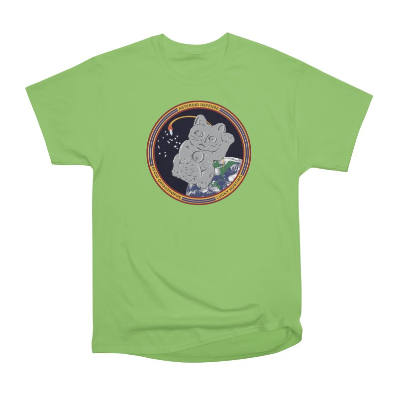 Stay Safe on Asteroid Day Women's Heavyweight Unisex T-Shirt by Peregrinus Creative