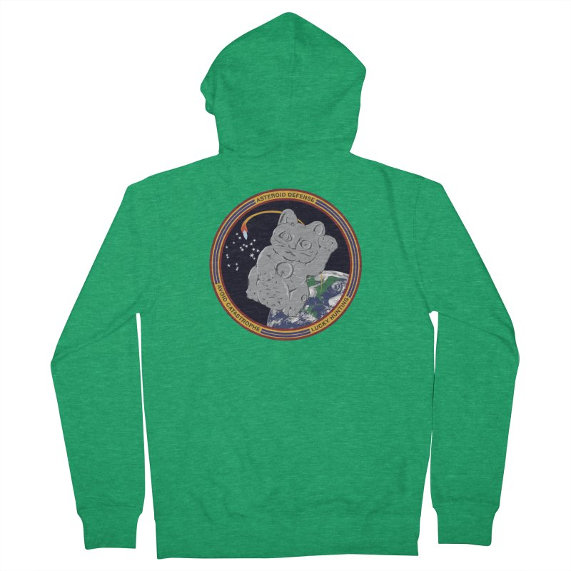 Stay Safe on Asteroid Day Women's French Terry Zip-Up Hoody by Peregrinus Creative