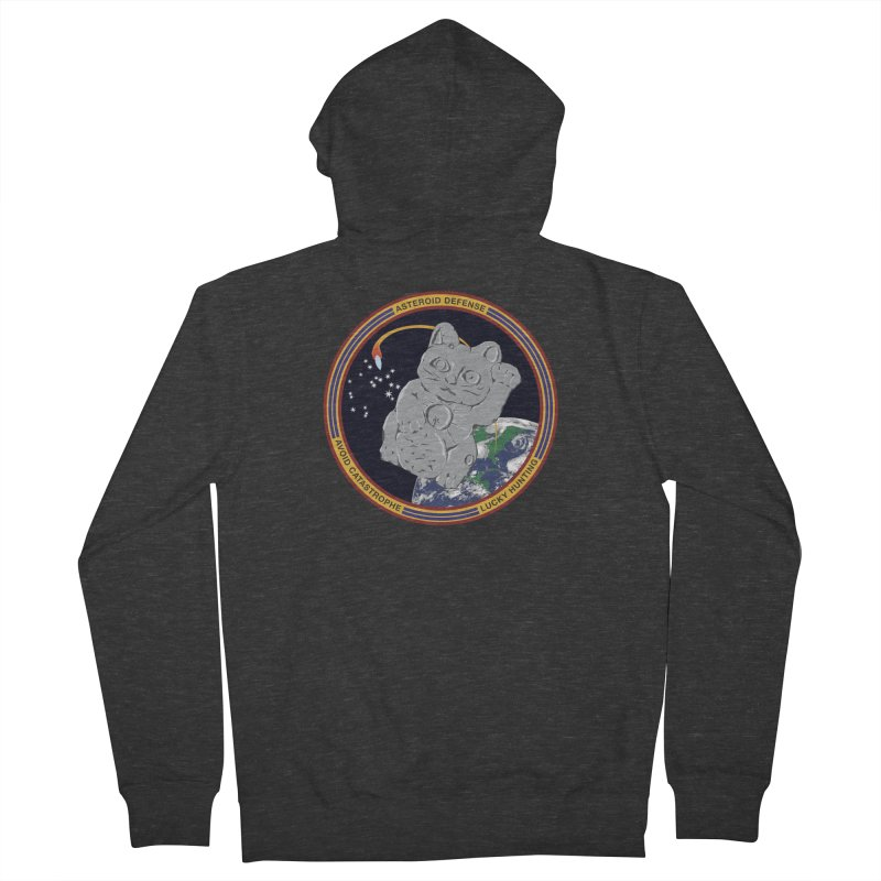 Stay Safe on Asteroid Day Men's French Terry Zip-Up Hoody by Peregrinus Creative
