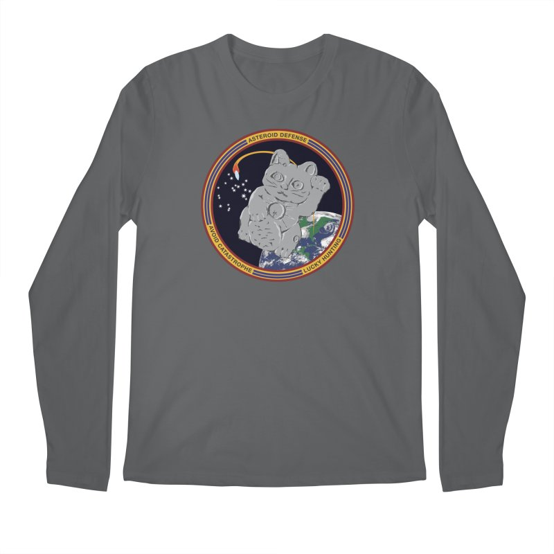 Stay Safe on Asteroid Day Men's Longsleeve T-Shirt by Peregrinus Creative