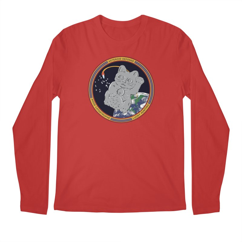 Stay Safe on Asteroid Day Men's Regular Longsleeve T-Shirt by Peregrinus Creative