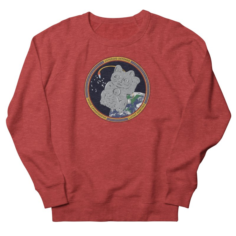 Stay Safe on Asteroid Day Women's French Terry Sweatshirt by Peregrinus Creative