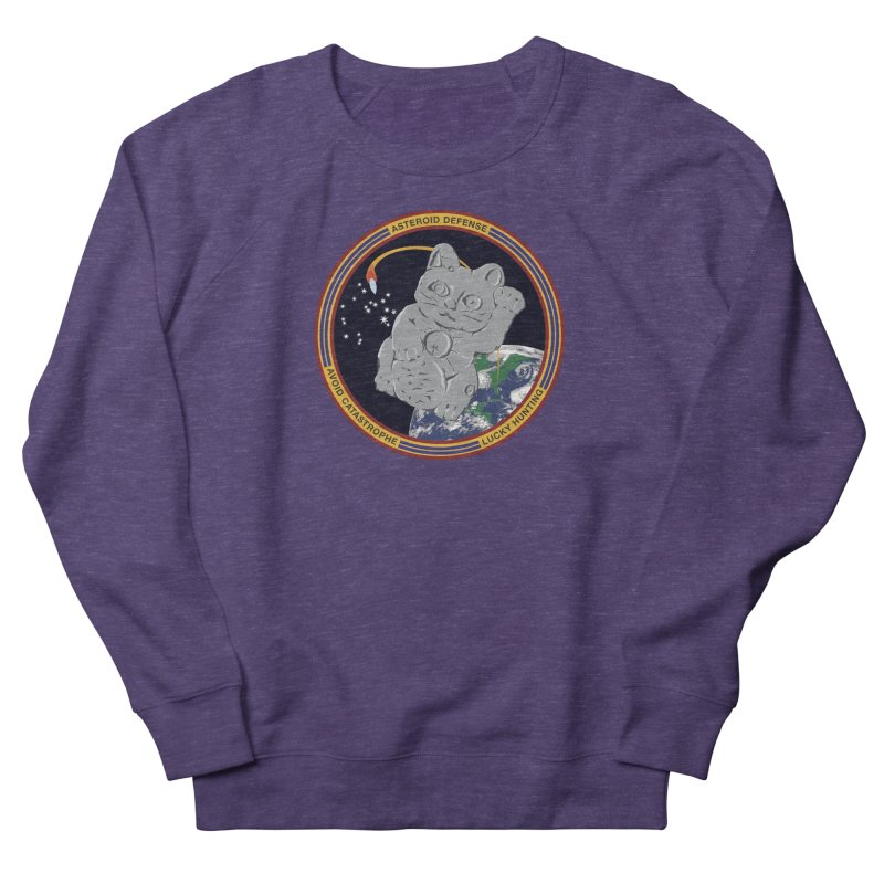 Stay Safe on Asteroid Day Men's French Terry Sweatshirt by Peregrinus Creative