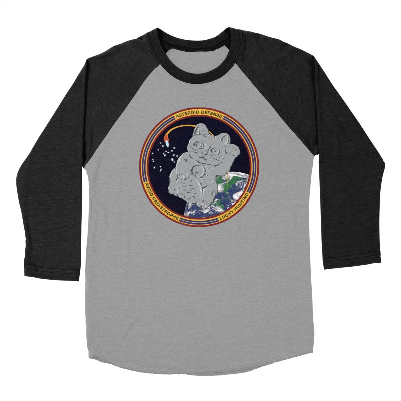 Stay Safe on Asteroid Day Women's Baseball Triblend Longsleeve T-Shirt by Peregrinus Creative
