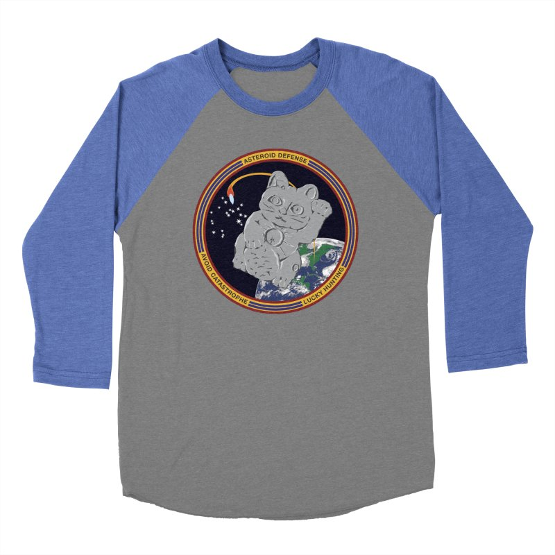 Stay Safe on Asteroid Day Men's Baseball Triblend Longsleeve T-Shirt by Peregrinus Creative
