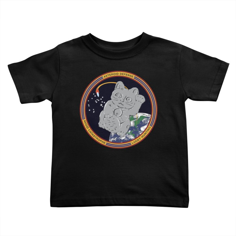 Stay Safe on Asteroid Day Kids Toddler T-Shirt by Peregrinus Creative