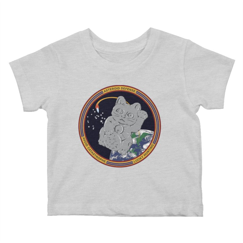 Stay Safe on Asteroid Day Kids Baby T-Shirt by Peregrinus Creative