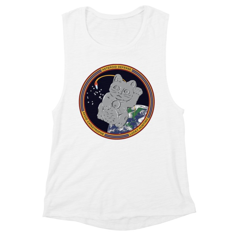 Stay Safe on Asteroid Day Women's Muscle Tank by Peregrinus Creative