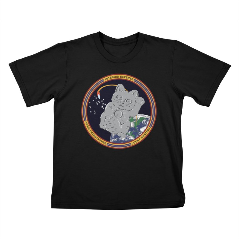 Stay Safe on Asteroid Day Kids T-Shirt by Peregrinus Creative