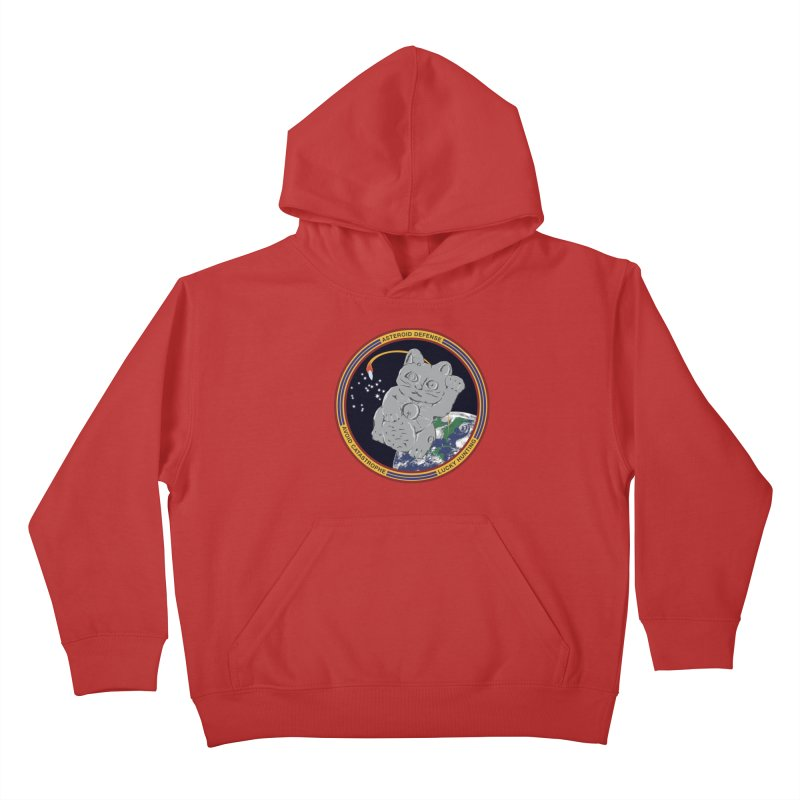 Stay Safe on Asteroid Day Kids Pullover Hoody by Peregrinus Creative