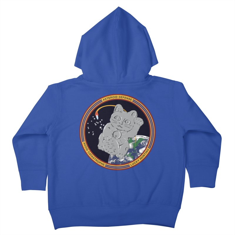 Stay Safe on Asteroid Day Kids Toddler Zip-Up Hoody by Peregrinus Creative