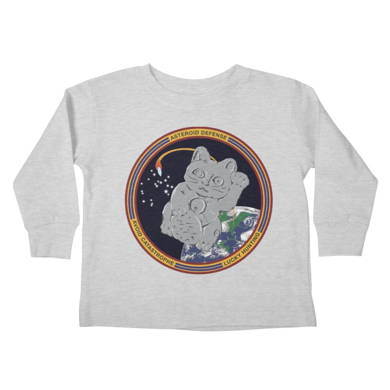 Stay Safe on Asteroid Day Kids Toddler Longsleeve T-Shirt by Peregrinus Creative