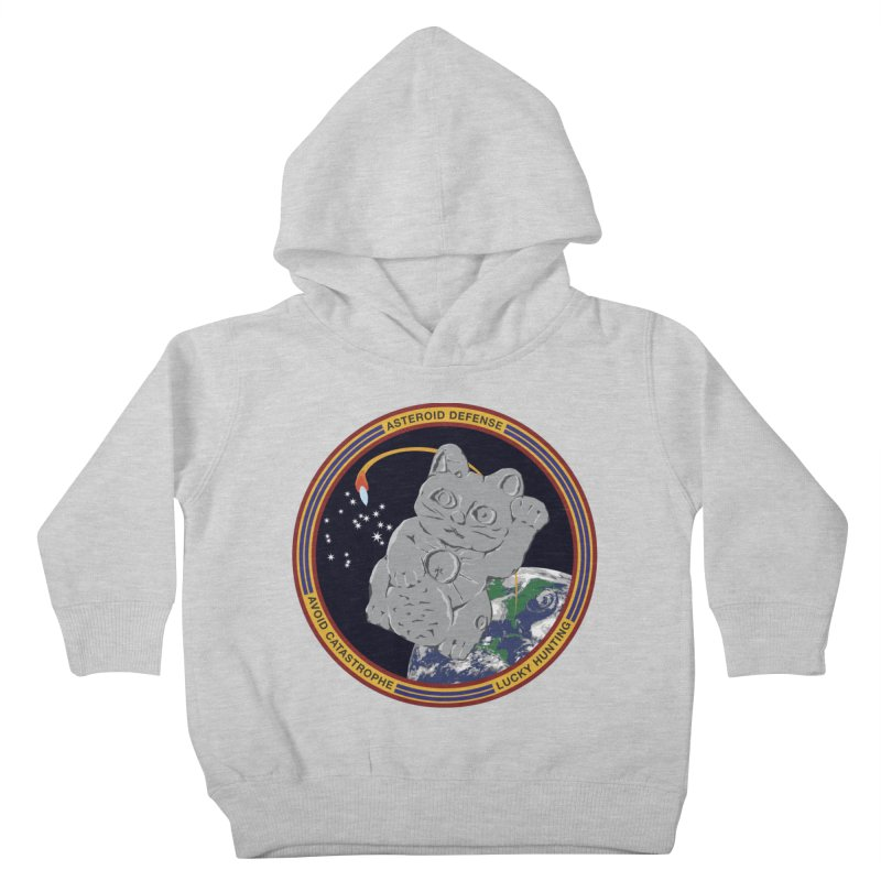 Stay Safe on Asteroid Day Kids Toddler Pullover Hoody by Peregrinus Creative