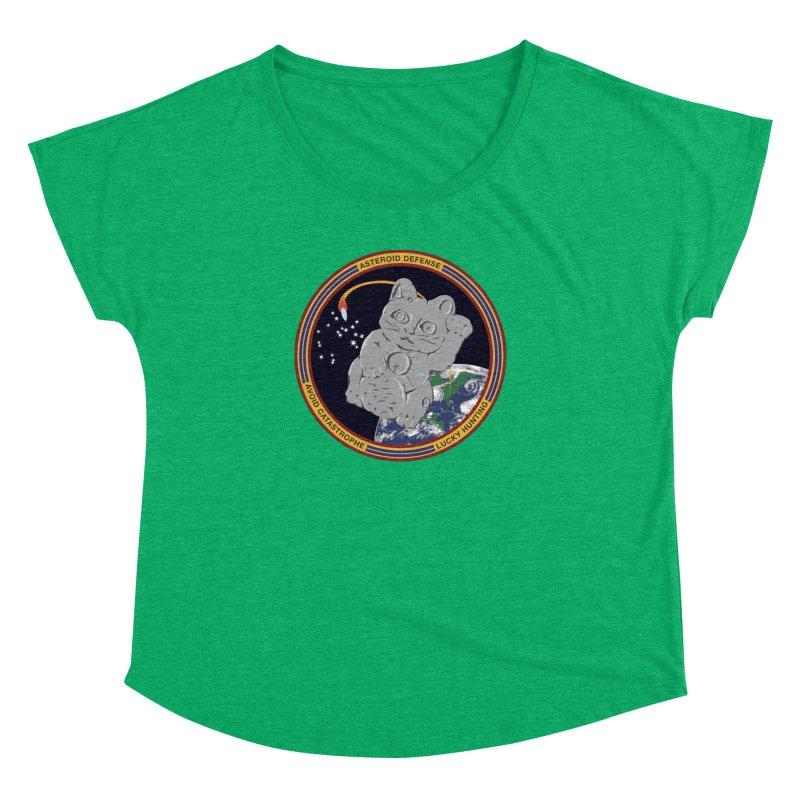 Stay Safe on Asteroid Day Women's Dolman Scoop Neck by Peregrinus Creative