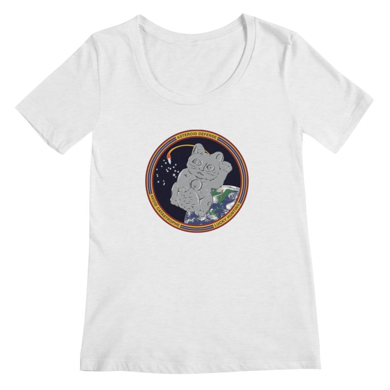 Stay Safe on Asteroid Day Women's Regular Scoop Neck by Peregrinus Creative