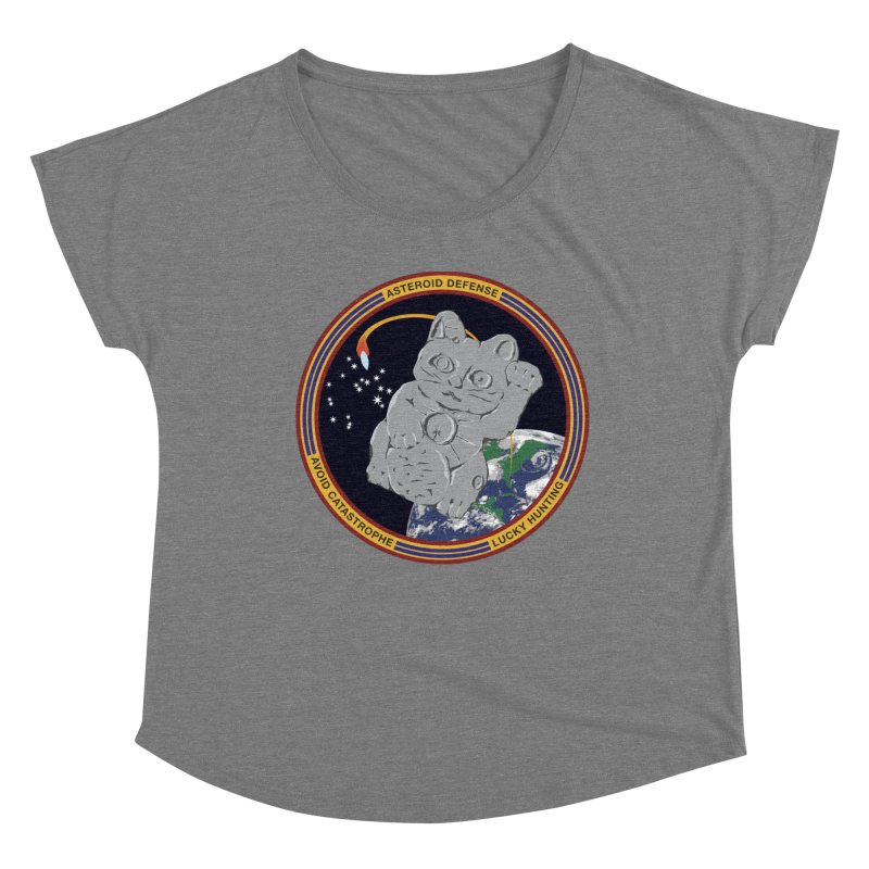 Stay Safe on Asteroid Day Women's Scoop Neck by Peregrinus Creative