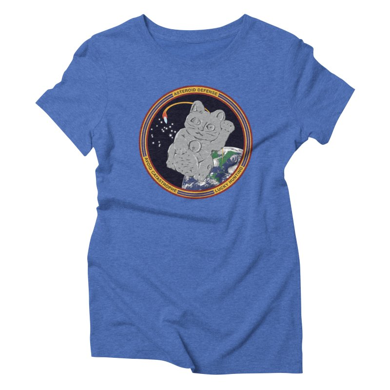 Stay Safe on Asteroid Day Women's Triblend T-Shirt by Peregrinus Creative