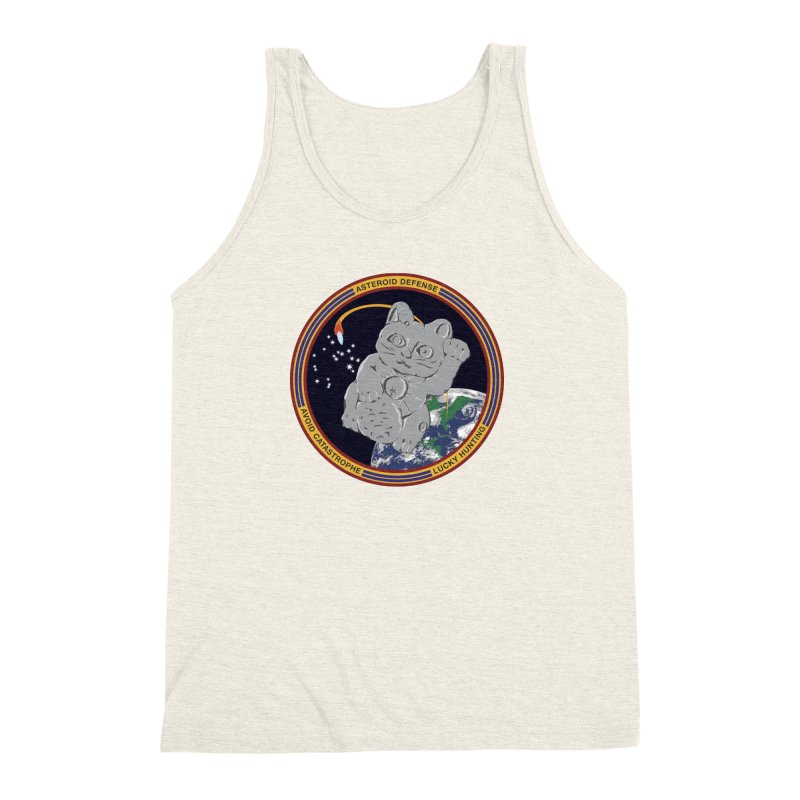 Stay Safe on Asteroid Day Men's Triblend Tank by Peregrinus Creative