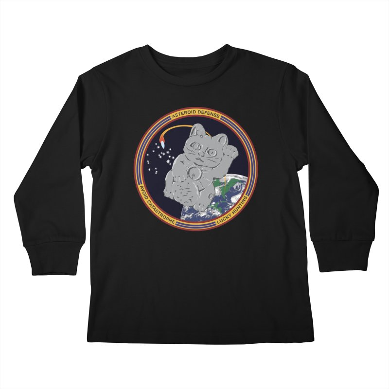 Stay Safe on Asteroid Day Kids Longsleeve T-Shirt by Peregrinus Creative