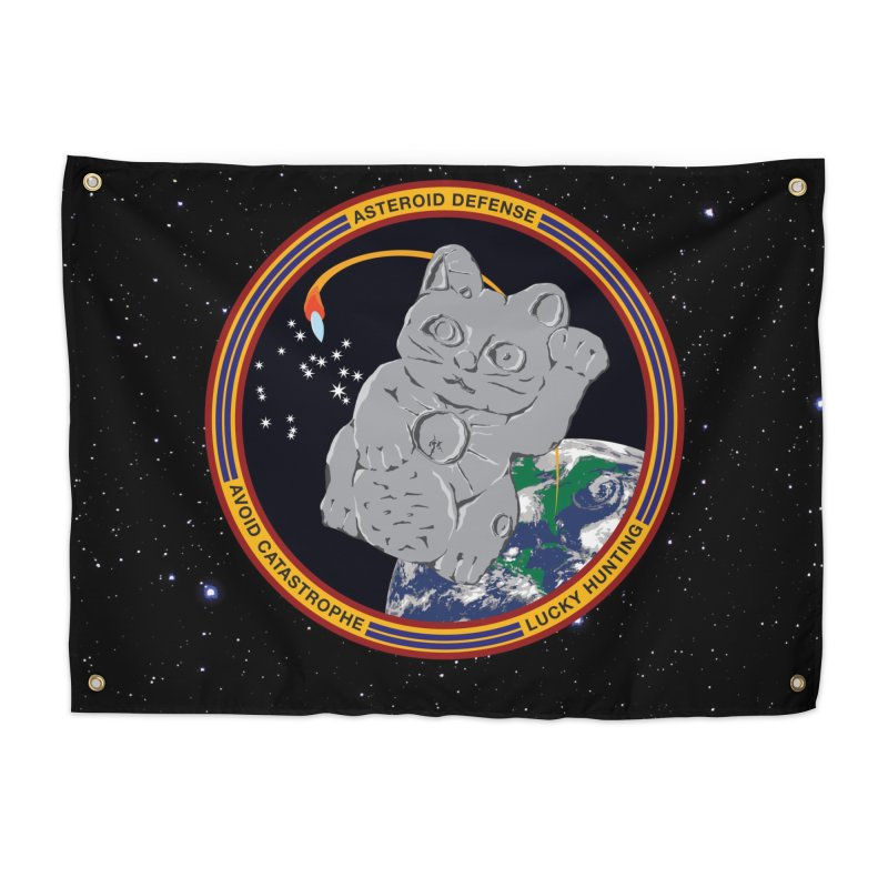 Stay Safe on Asteroid Day Home Tapestry by Peregrinus Creative