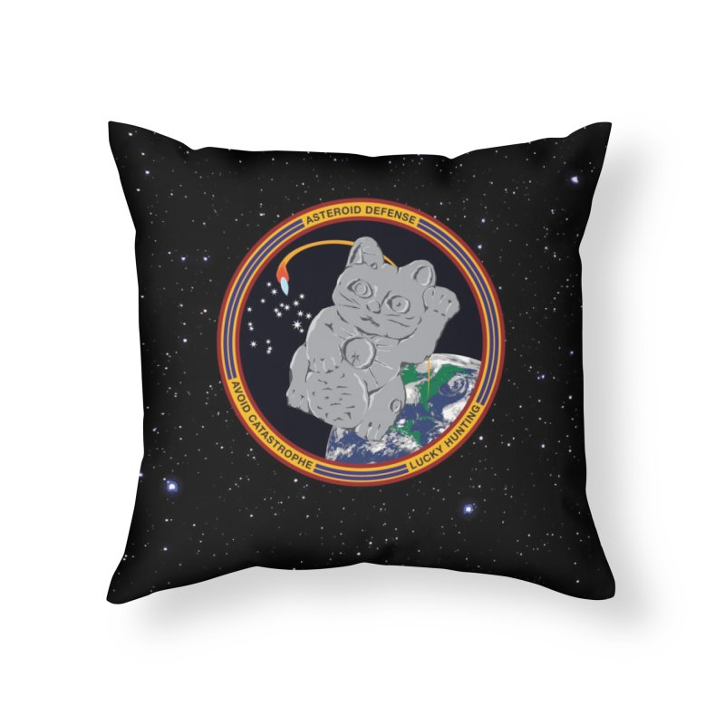 Stay Safe on Asteroid Day Home Throw Pillow by Peregrinus Creative