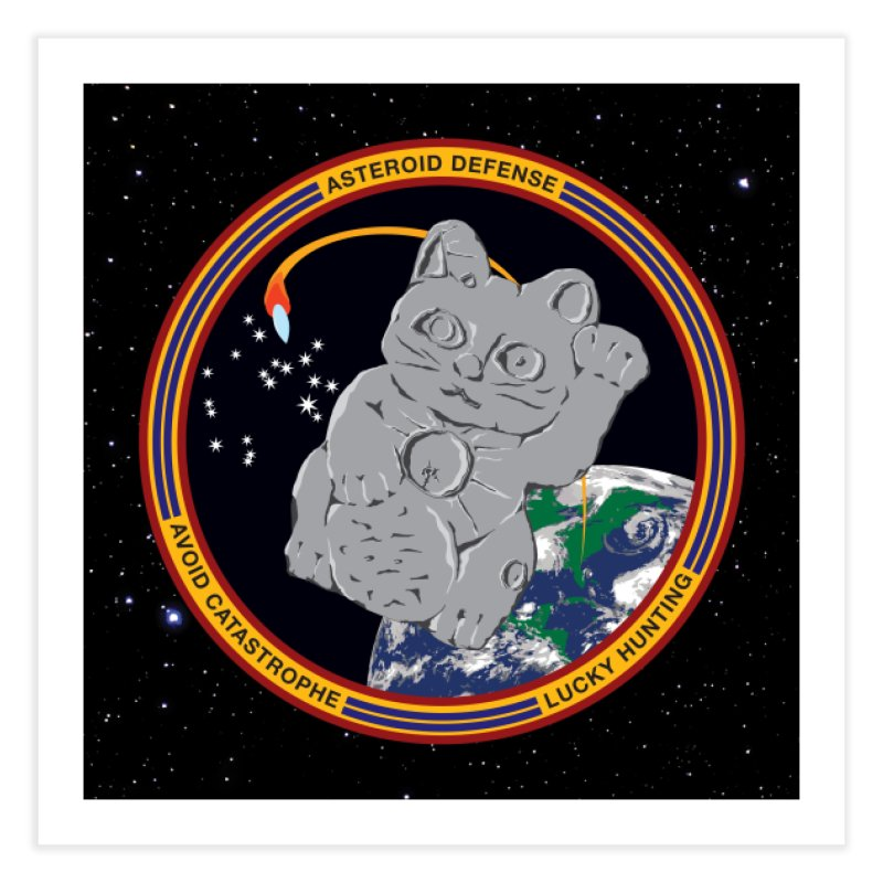 Stay Safe on Asteroid Day Home Fine Art Print by Peregrinus Creative