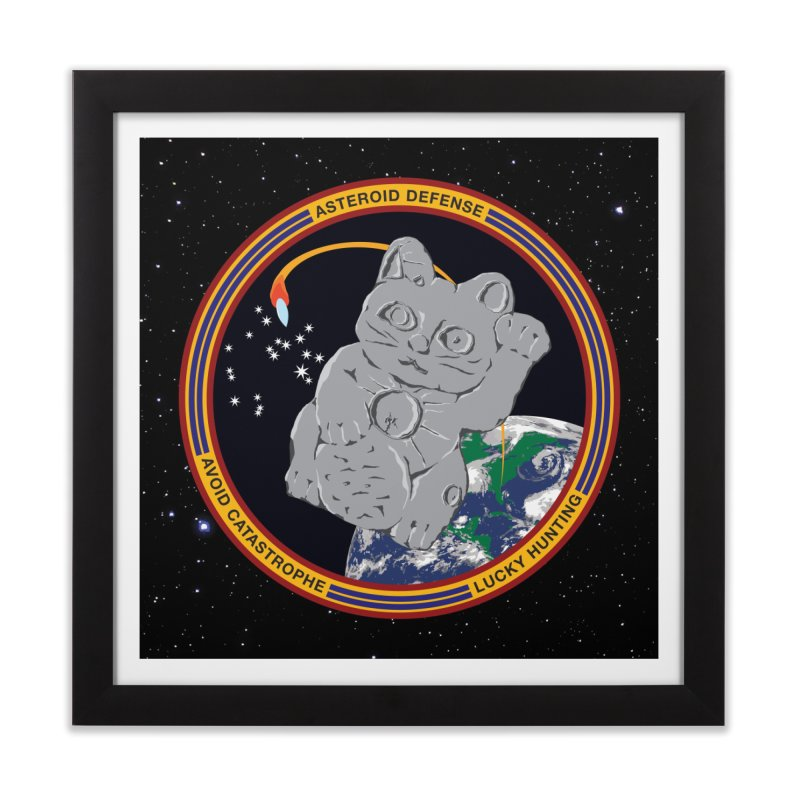 Stay Safe on Asteroid Day Home Framed Fine Art Print by Peregrinus Creative