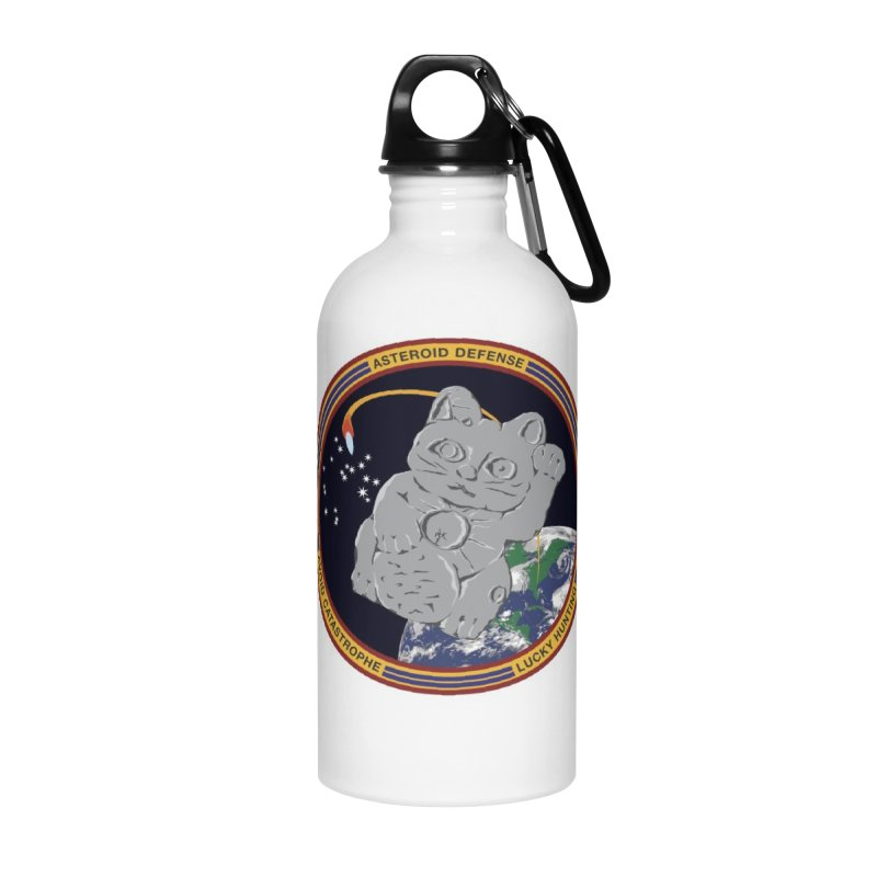 Stay Safe on Asteroid Day Accessories Water Bottle by Peregrinus Creative