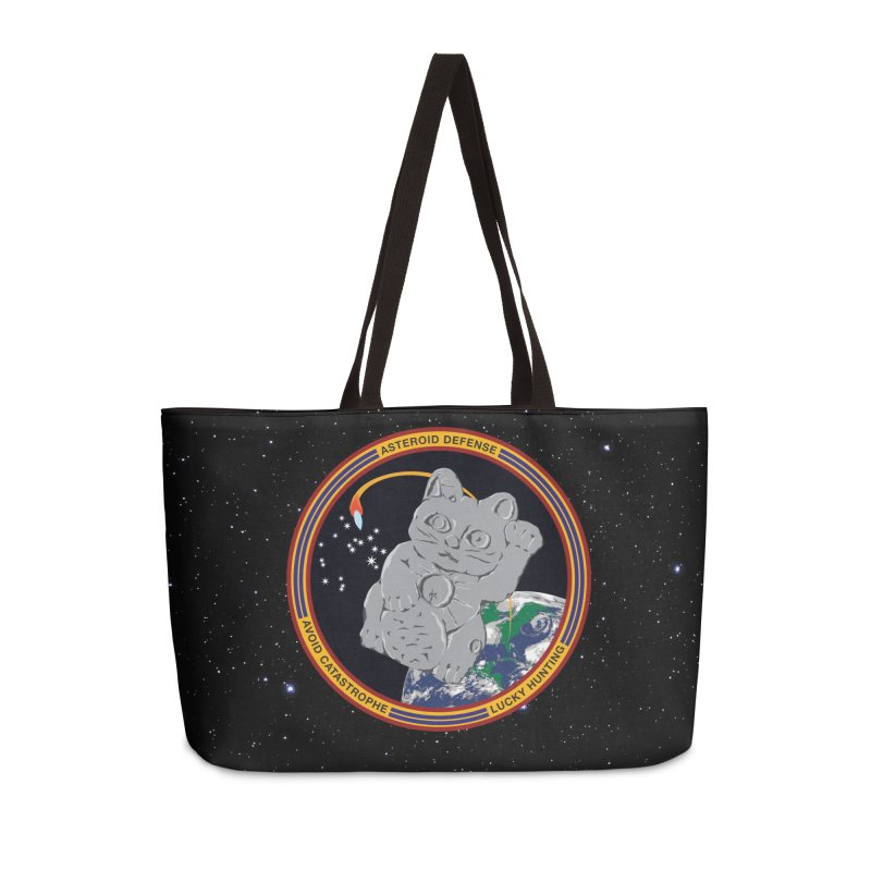 Stay Safe on Asteroid Day Accessories Weekender Bag Bag by Peregrinus Creative