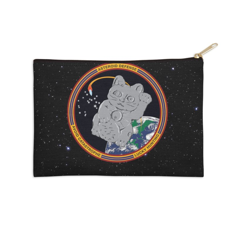 Stay Safe on Asteroid Day Accessories Zip Pouch by Peregrinus Creative
