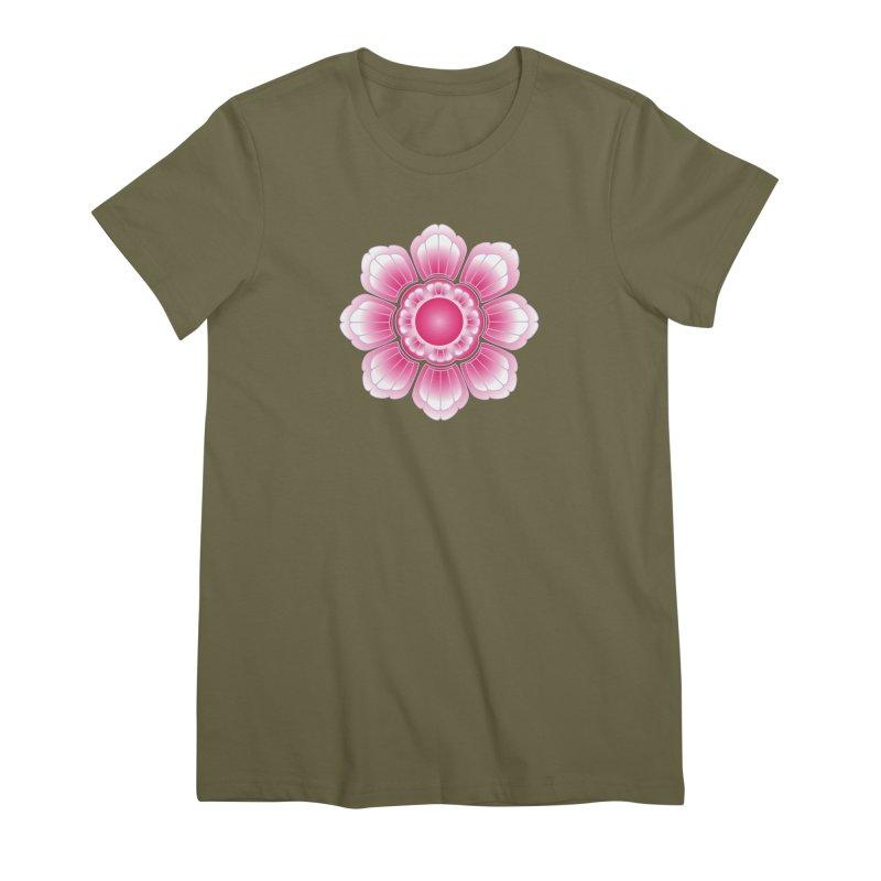 Khmer Lotus Women's Premium T-Shirt by Peregrinus Creative