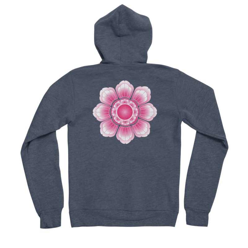 Khmer Lotus Women's Sponge Fleece Zip-Up Hoody by Peregrinus Creative