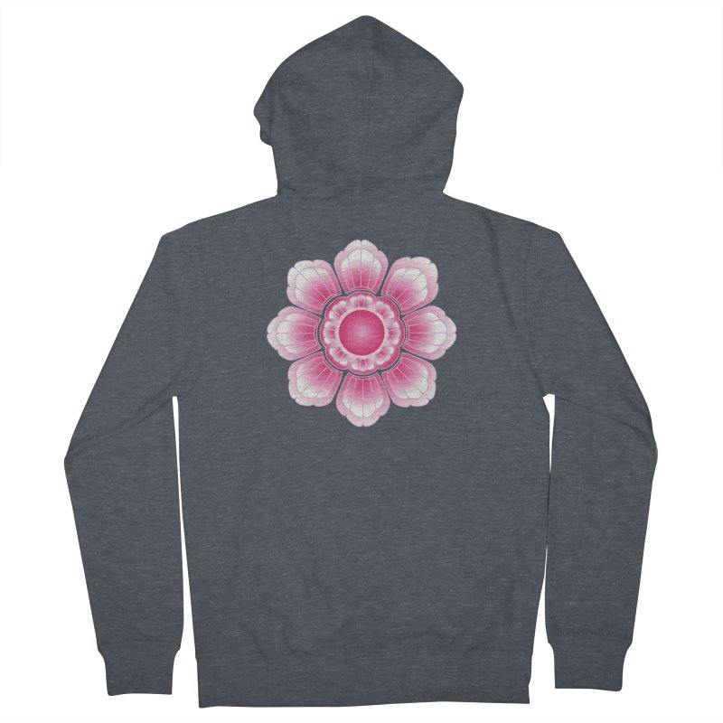 Khmer Lotus Women's French Terry Zip-Up Hoody by Peregrinus Creative