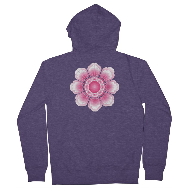 Khmer Lotus Men's French Terry Zip-Up Hoody by Peregrinus Creative