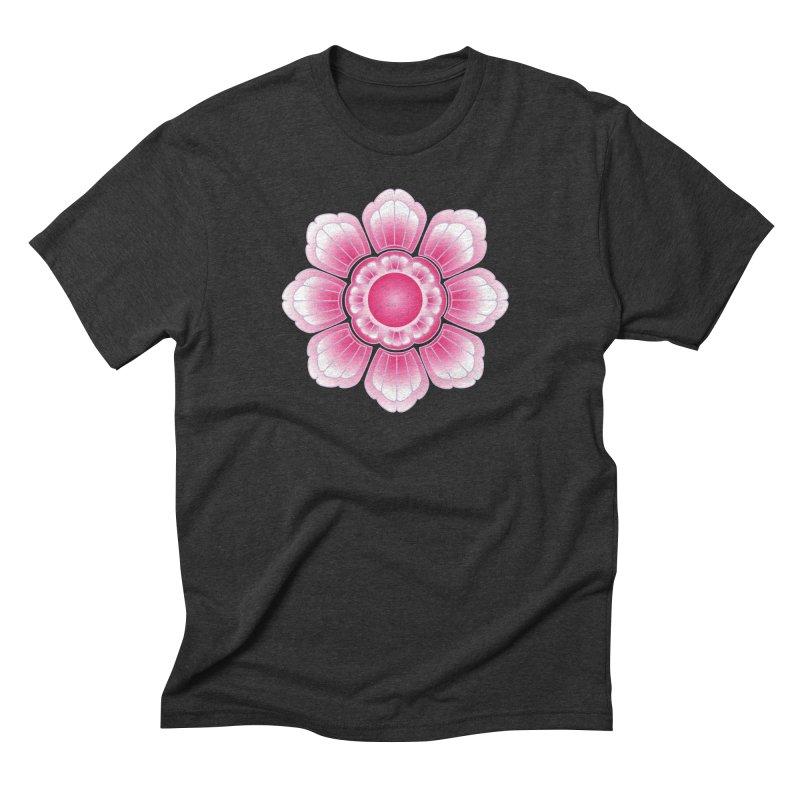 Khmer Lotus Men's Triblend T-Shirt by Peregrinus Creative