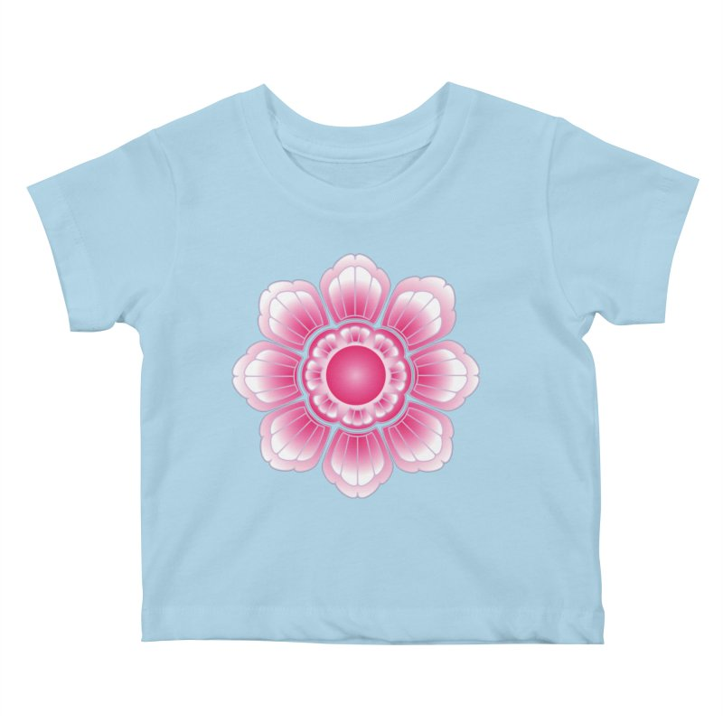 Khmer Lotus Kids Baby T-Shirt by Peregrinus Creative