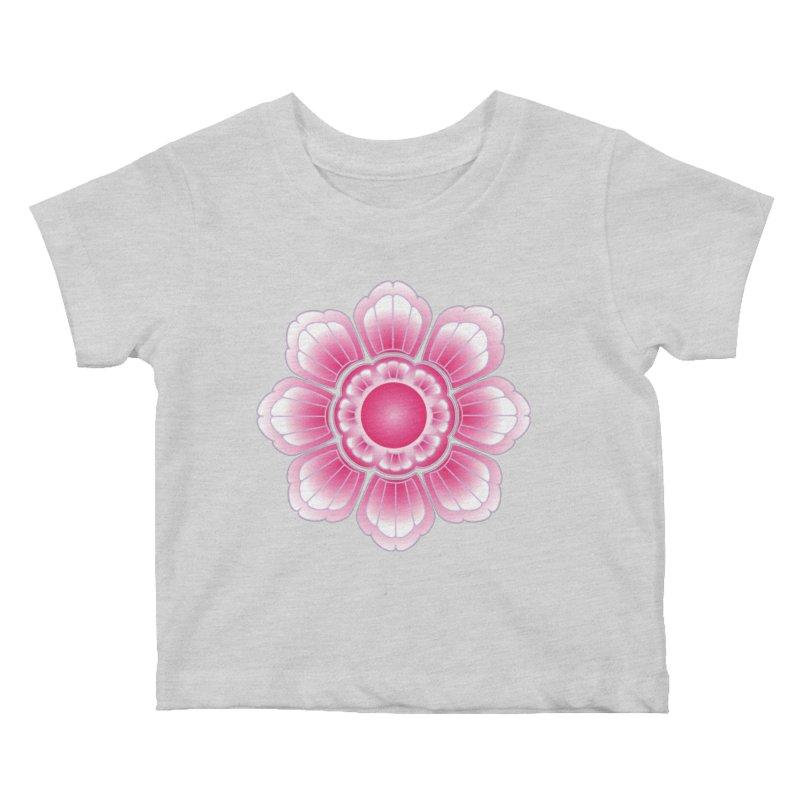 Khmer Lotus Kids Baby T-Shirt by Peregrinus Creative