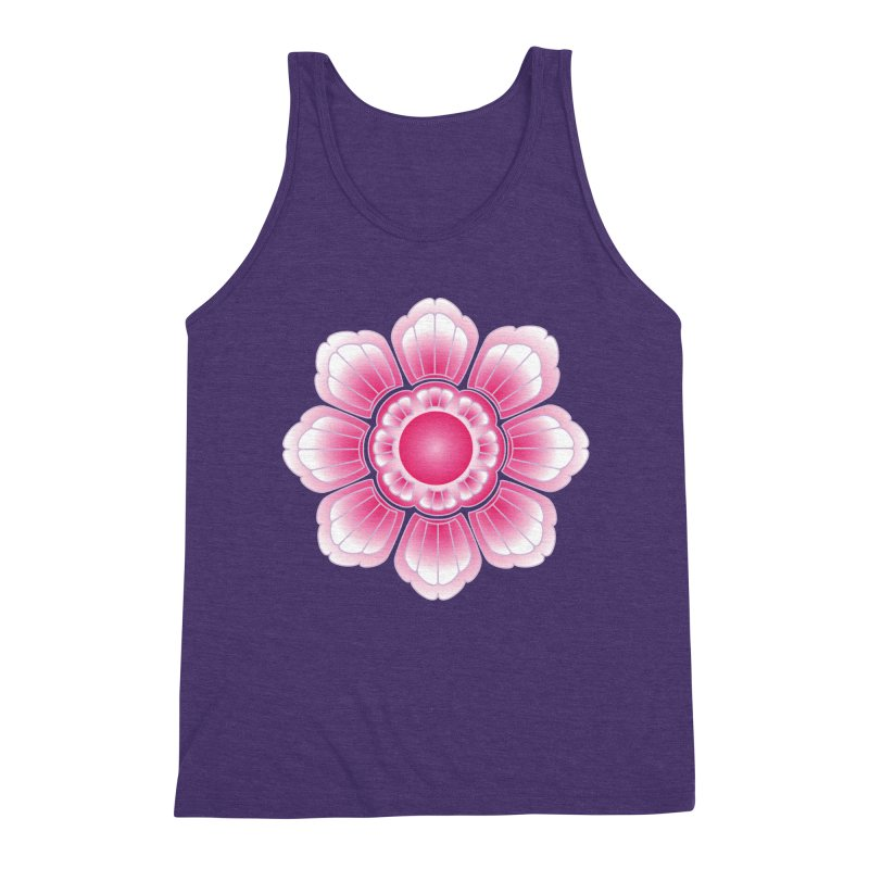 Khmer Lotus Men's Triblend Tank by Peregrinus Creative