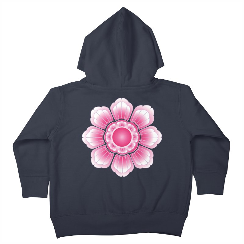 Khmer Lotus Kids Toddler Zip-Up Hoody by Peregrinus Creative