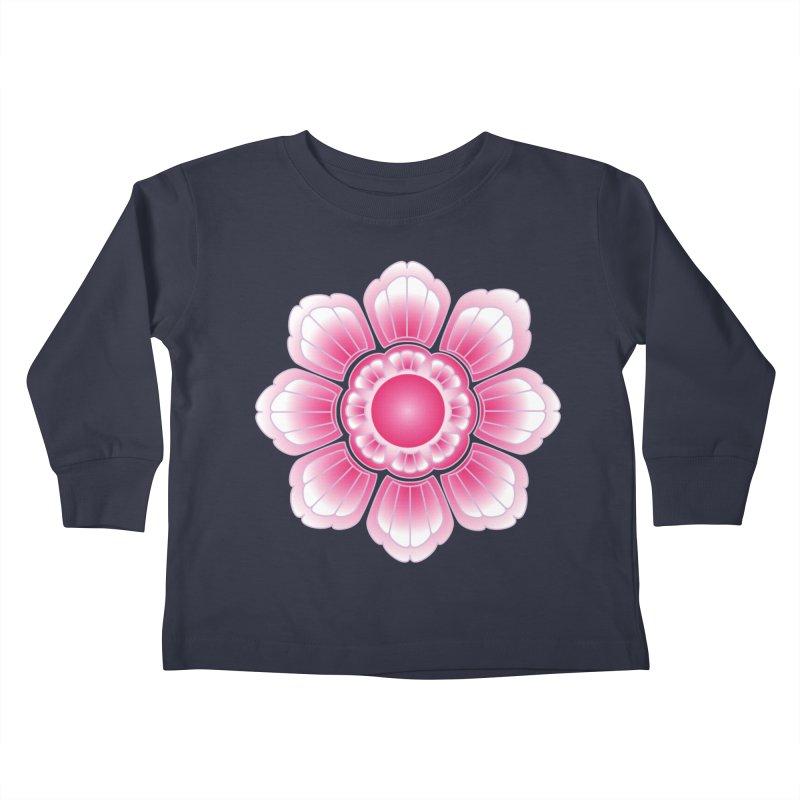 Khmer Lotus Kids Toddler Longsleeve T-Shirt by Peregrinus Creative