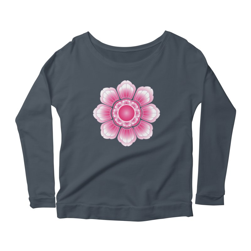 Khmer Lotus Women's Scoop Neck Longsleeve T-Shirt by Peregrinus Creative
